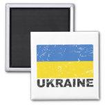 Ukraine Vintage Flag Fridge Magnet