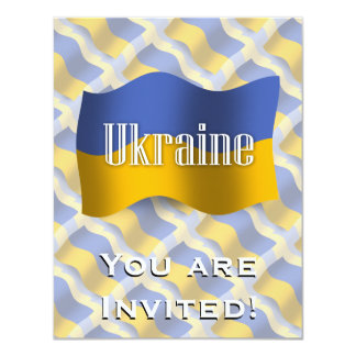 Ukraine Waving Flag Card