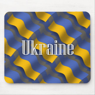 Ukraine Waving Flag Mouse Pad