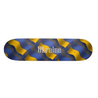 Ukraine Waving Flag Skate Deck
