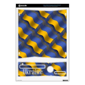 Ukraine Waving Flag Skin For The Xbox 360 S
