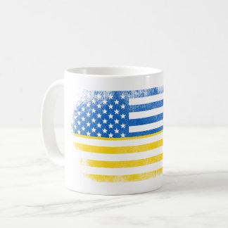 Ukrainian American Flag   Ukraine and USA Design Coffee Mug