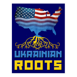 Ukrainian American Roots Postcard