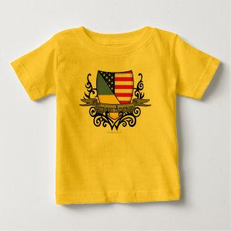 Ukrainian-American Shield Flag Baby T-Shirt