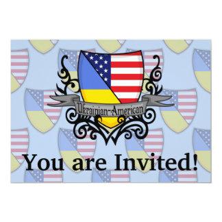 Ukrainian-American Shield Flag Card
