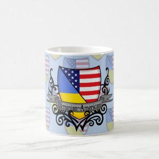 Ukrainian-American Shield Flag Coffee Mug