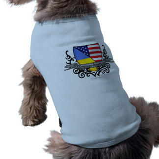 Ukrainian-American Shield Flag Doggie T-shirt