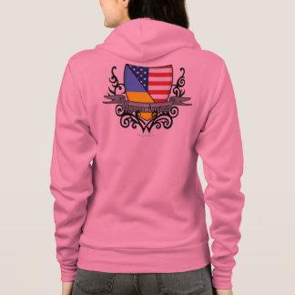 Ukrainian-American Shield Flag Hoodie