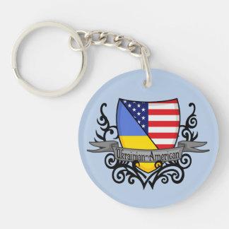 Ukrainian-American Shield Flag Keychain