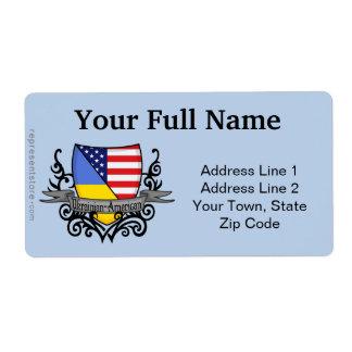 Ukrainian-American Shield Flag Label