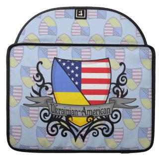 Ukrainian-American Shield Flag Sleeve For MacBooks