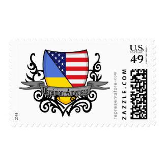 Ukrainian-American Shield Flag Stamp