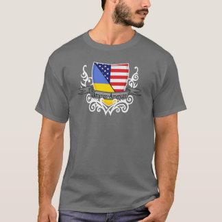 Ukrainian-American Shield Flag T-Shirt