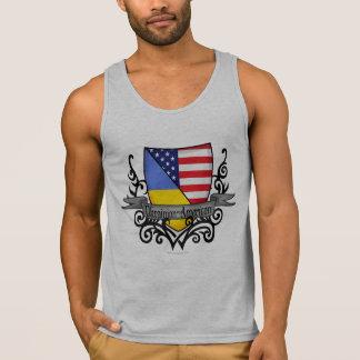Ukrainian-American Shield Flag Tank Top