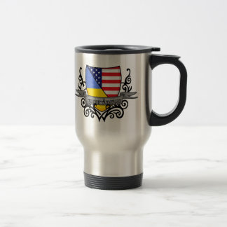 Ukrainian-American Shield Flag Travel Mug