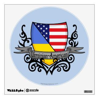 Ukrainian-American Shield Flag Wall Decal
