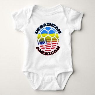 Ukrainian American Soccer Baby Bodysuit