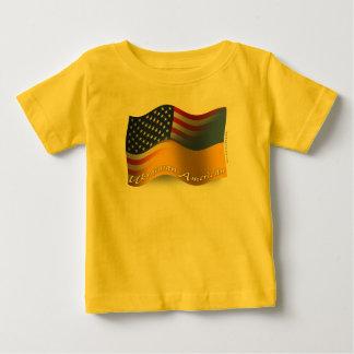 Ukrainian-American Waving Flag Baby T-Shirt