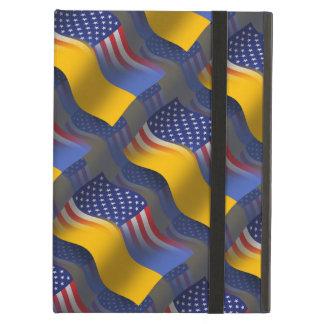 Ukrainian-American Waving Flag iPad Air Cover