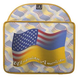 Ukrainian-American Waving Flag Sleeves For MacBook Pro
