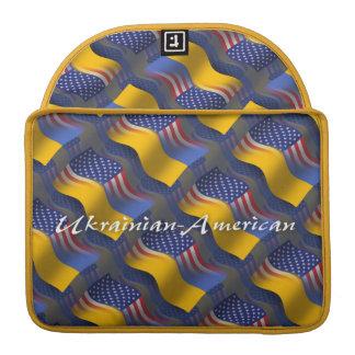 Ukrainian-American Waving Flag Sleeve For MacBook Pro