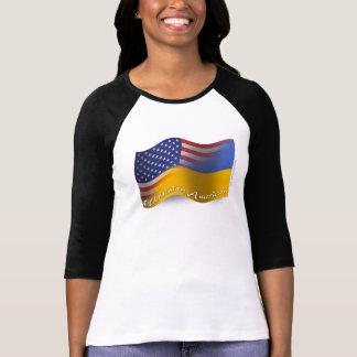 Ukrainian-American Waving Flag T-Shirt