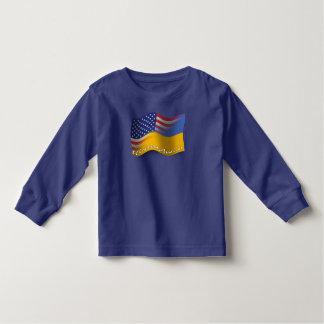Ukrainian-American Waving Flag Toddler T-shirt