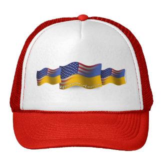 Ukrainian-American Waving Flag Trucker Hat