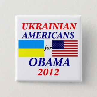 Ukrainian americans for Obama Pinback Button