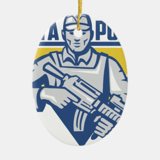 Ukrainian Army Junta Power Ceramic Ornament