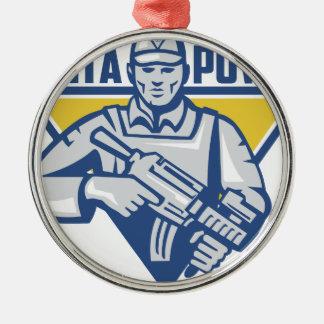 Ukrainian Army Junta Power Metal Ornament