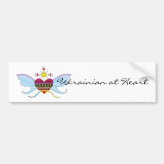 Ukrainian at Heart Car Bumper Sticker
