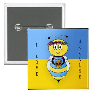 Ukrainian Bee Series Button