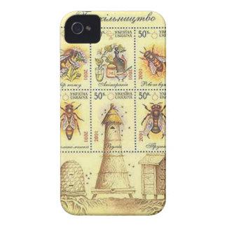Ukrainian Beekeeping Stamp iPhone 4 Cases