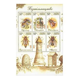 Ukrainian Beekeeping Stamp Stationery