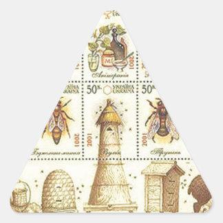 Ukrainian Beekeeping Stamp Triangle Sticker
