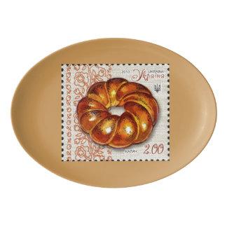 Ukrainian Bread Serving Platter