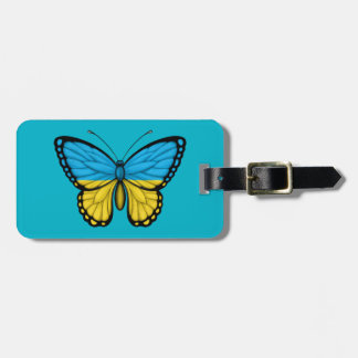 Ukrainian Butterfly Flag Tag For Luggage