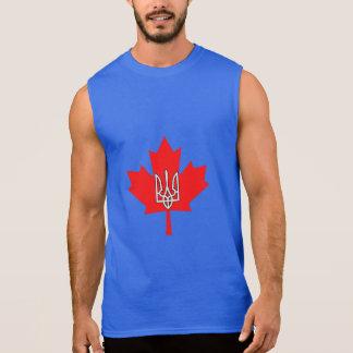 Ukrainian Canadian Pride Maple Leaf Tryzub Tank
