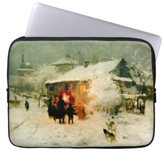 Ukrainian Christmas Carolers Laptop Sleeve