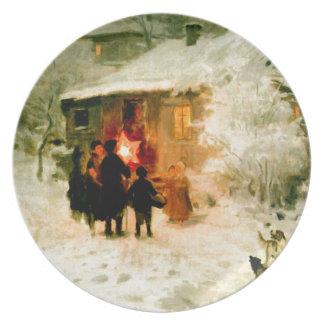 Ukrainian Christmas Carolers Plate