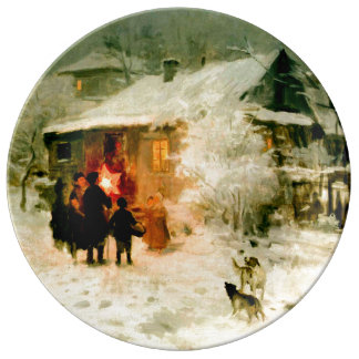 Ukrainian Christmas Carolers Porcelain Plate