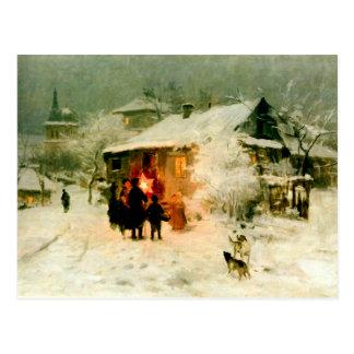 Ukrainian Christmas Carolers Postcard