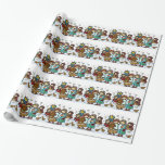 Ukrainian Christmas Carollers Gift Wrapping Paper