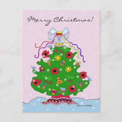 Ukrainian christmas carolers holiday postcard zazzle m4hsunfo