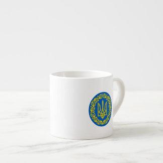 Ukrainian coat of arms espresso cup