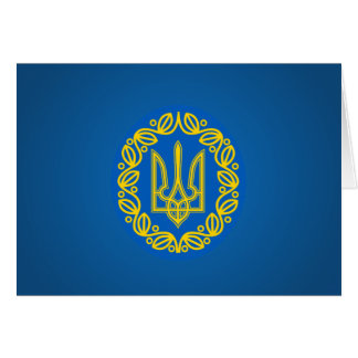 Ukrainian coat of arms stationery note card