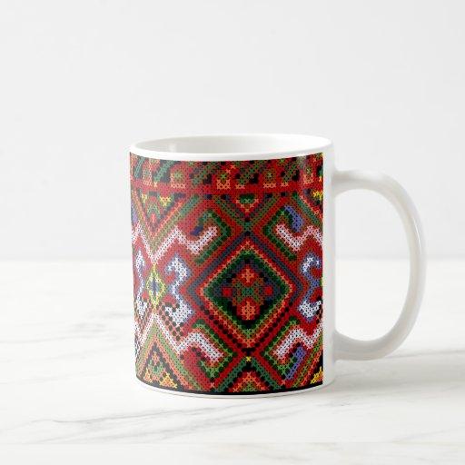 Ukrainian Cross Stitch Embroidery Easter Mug