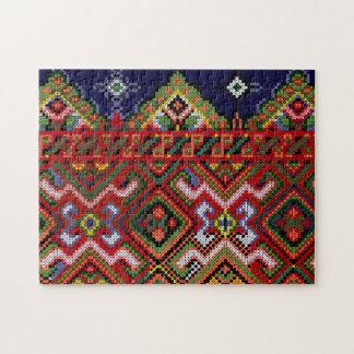 Ukrainian Cross Stitch Embroidery Jigsaw Puzzle
