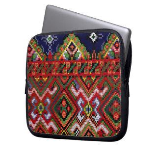 Ukrainian Cross Stitch Embroidery Zippered Neopren Laptop Computer Sleeves